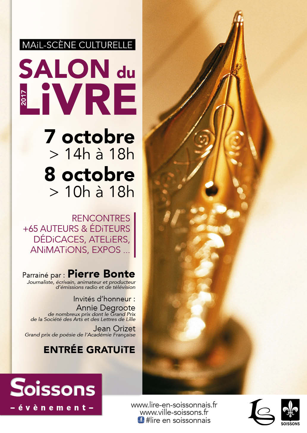 Salon du livre 2017 on y arrive lire en soissonnais for Salon du livre 2017